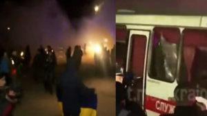 Автобусы с людьми разгромили, есть раненые: Ад творился в Новых Санжарах