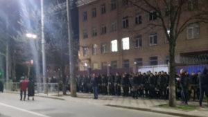 По посольству РФ в Киеве ударили из ракетницы