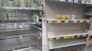 Настоящая карантинная паника! Украинцы начали сметать продукты в магазинах