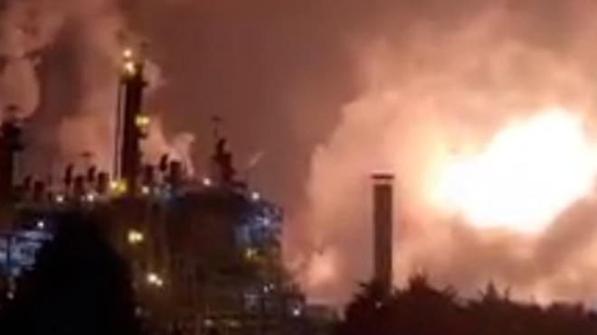 Много пострадавших: мощный взрыв прогремел на  химическом предпритяии Lotte Chemical