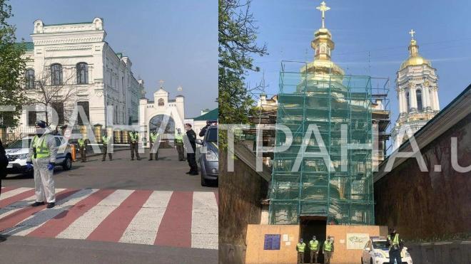 Полиция взяла в кольцо Киево-Печерскую Лавру: что происходит