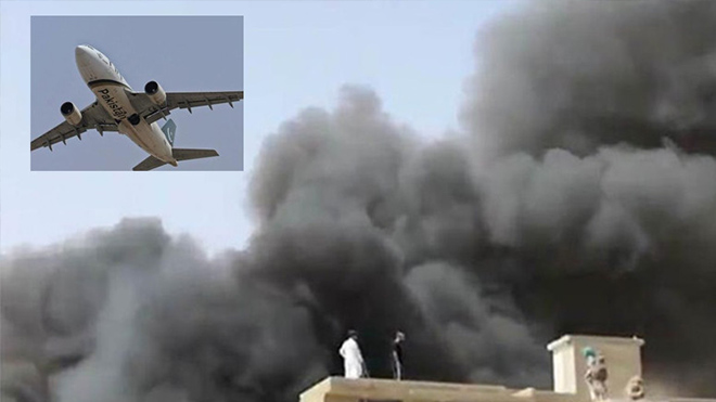 При крушении самолета в Пакистане погибли 90 человек