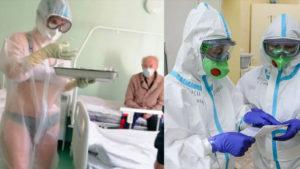 Тульскую медсестру наказали за прозрачный защитный костюм с бикини