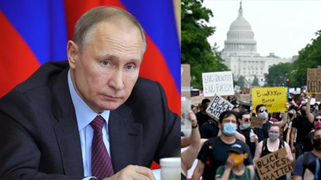 Путин впервые прокомментировал события в США