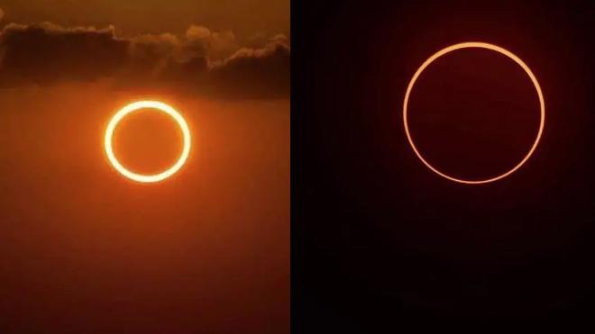 На Земле увидели кольцевое солнечное затмение. Яркие фото и онлайн-трансляция