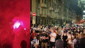 Мощный взрыв прогремел под окнами Зеленского, улица в дыму: сотни силовиков стянули на место бунта