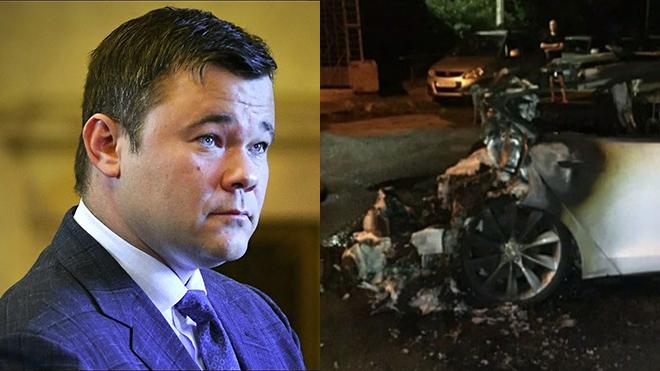 Когда все спали! В Киеве подожгли автомобиль Tesla Андрея Богдана: ремонту не подлежит