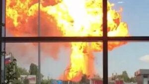 ЧП в Волгограде: адское пламя на АЗС видно было за несколько километров. ВИДЕО