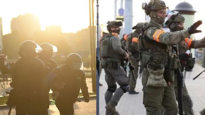 В Минске произошла стычка между силовиками и митингующими