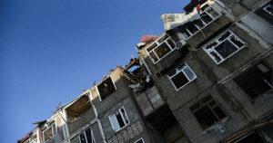 В центре Степанакерта прогремела серия сильных взрывов