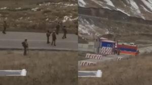 Ադրբեջանցի զինվորները Սոթքի անցակետի մոտ «Ալլահ աքբար» են գոռում հայ զինվորների ուղղությամբ