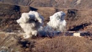 Հայ զինծառայողները պայթեցրել են Քարվաճառում գտնվող զորամասի շենքը