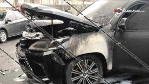 Երևանում պայթեցրել են «Հայէկոնոմբանկի» գործադիր տնօրենի Lexus-ը․ Shamshyan.com