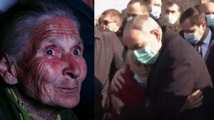 ՏԵՍԱՆՅՈՒԹ. Հեղափոխությունից հայտնի Լելյա տատիկը փաթաթվեց Նիկոլ Փաշինյանին