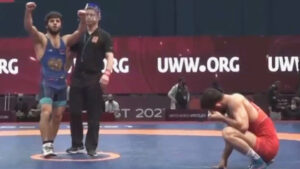 ՏԵՍԱՆՅՈՒԹ. Վազգեն Թևանյանը ջախջախեց ադրբեջանցի մարզիկին և նվաճեց ոսկե մեդալ