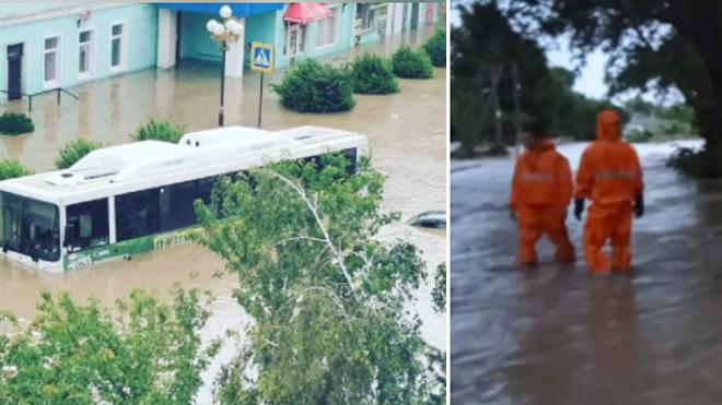 Некоторые районы Крыма затопило из за сильных ливней