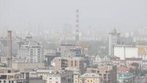 Столицу Украины накрыла песчаная буря: видно даже из космоса. ВИДЕО