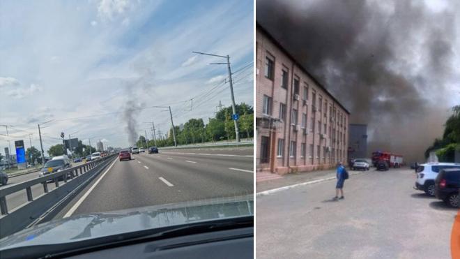 На киевской Куринёвке произошёл масштабный пожар