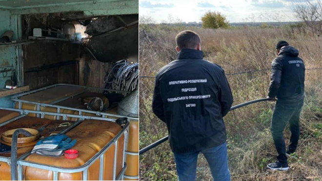 ГПСУ нашла подводный спиртопровод в Молдову